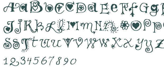 7 Girl Handwriting Font Images - Cute Handwriting Fonts ...