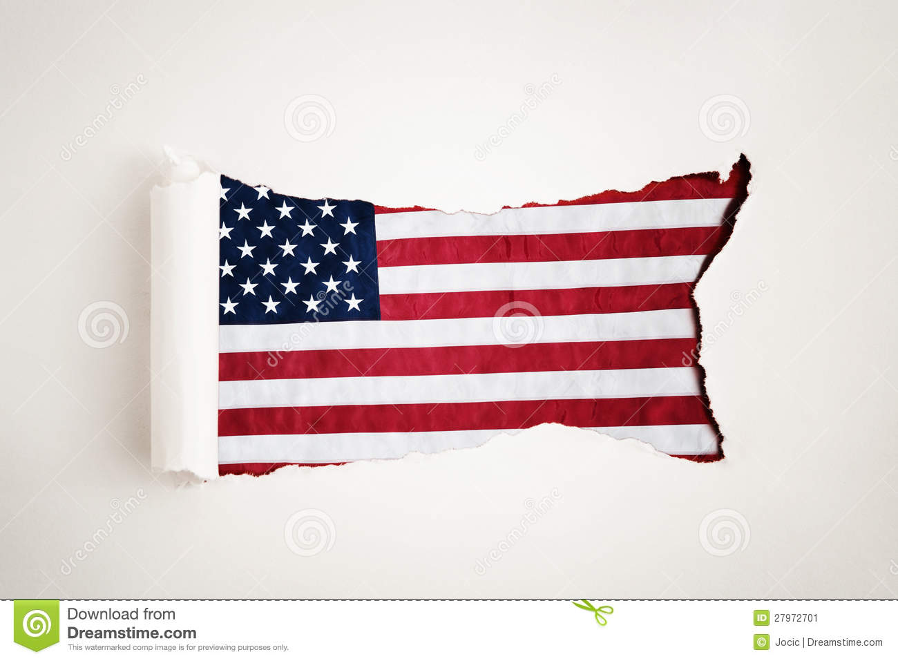 research paper american flag