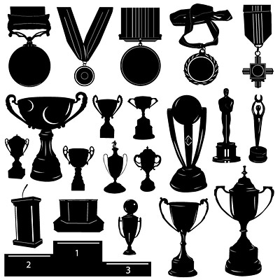 8 Trophy Silhouette Vector Images