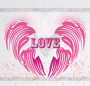 Vintage Heart Shape Clip Art