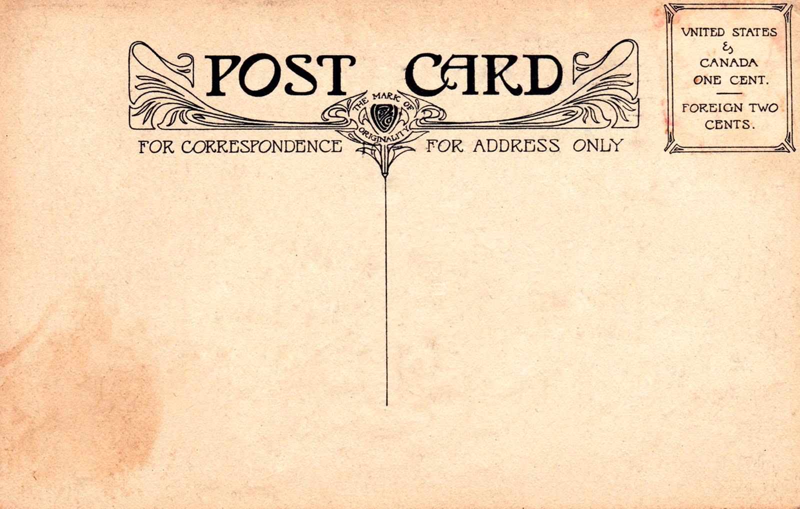13 Vintage Postcard Font Images