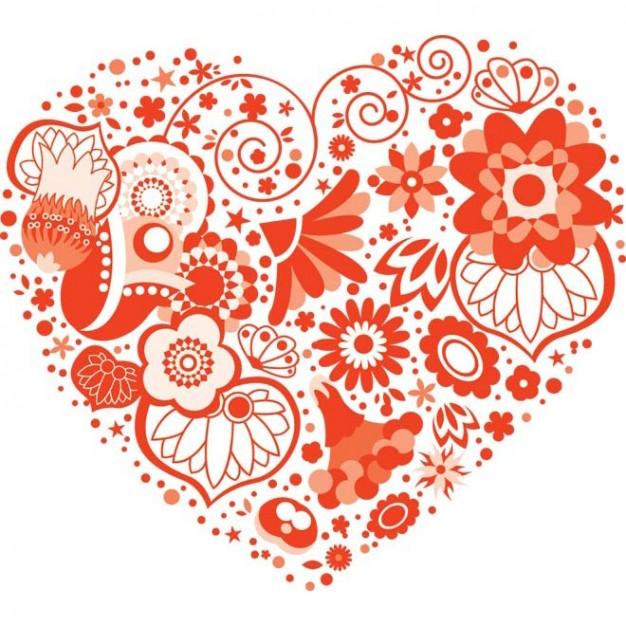 Vintage Valentine Heart Art