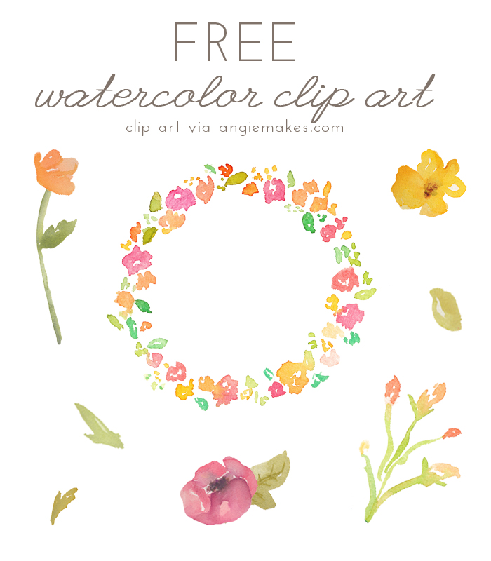 19 Watercolor Flower Graphics Images