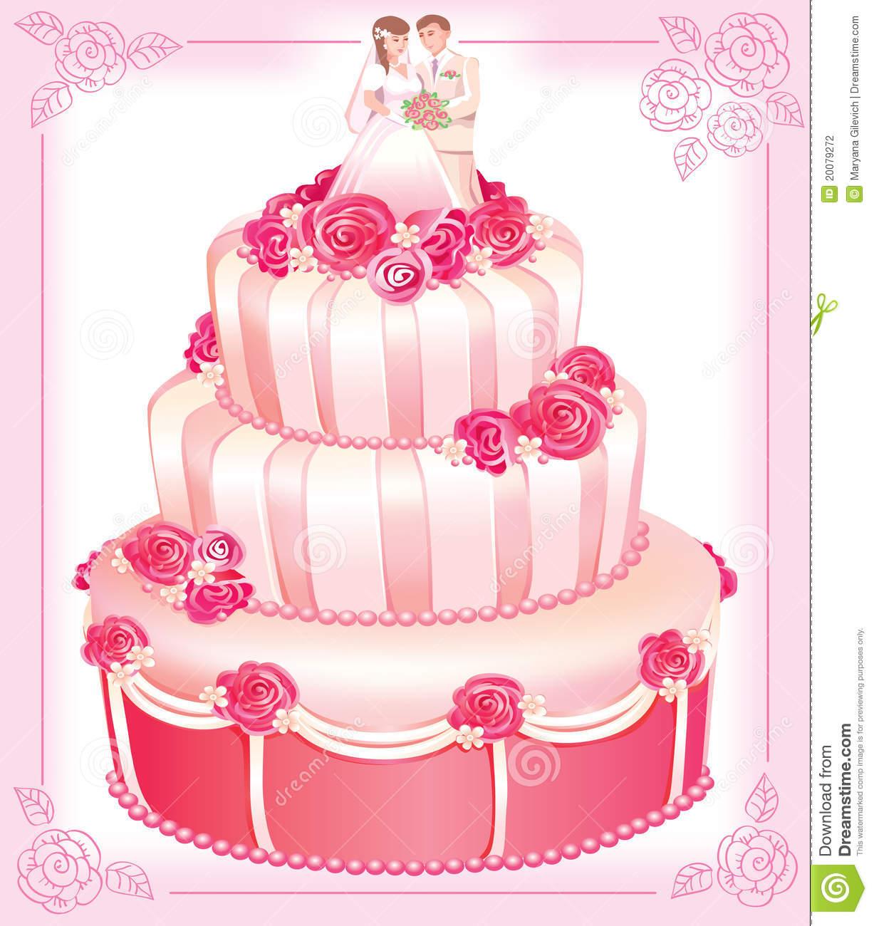 Wedding Cake Clip Art Vector