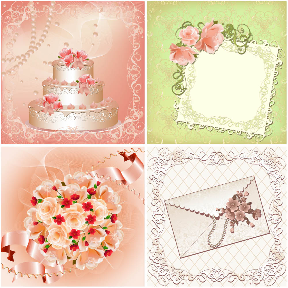 14 Cake Art Wedding Vector Images