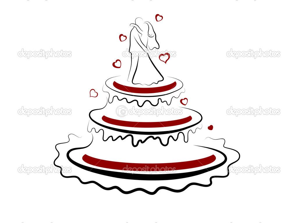Wedding Cake Vector