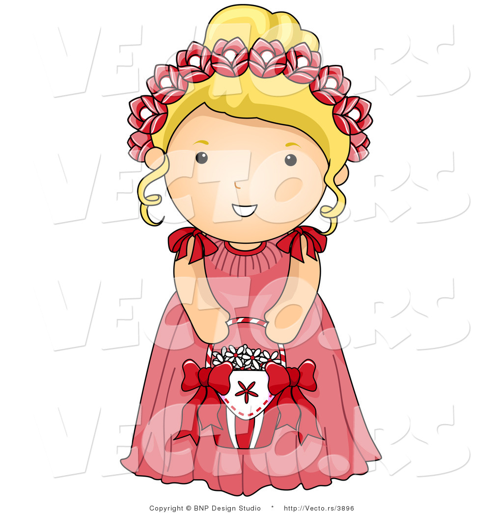 Wedding Flower Girl Cartoon