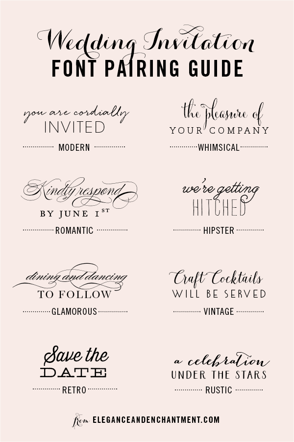 Wedding Font Combinations