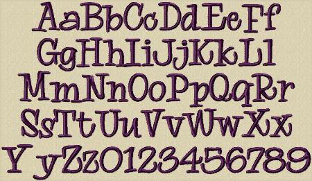 15 Nelly Embroidery Font Images