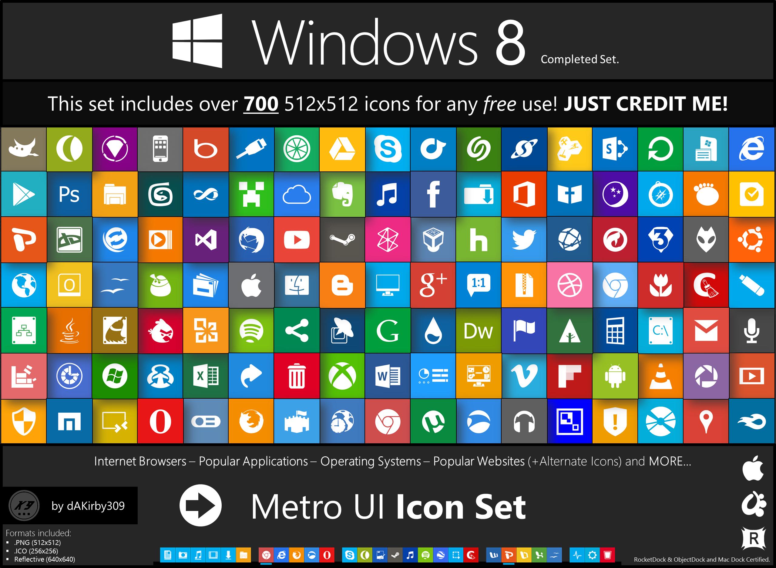 Windows 8.1 Metro Icons