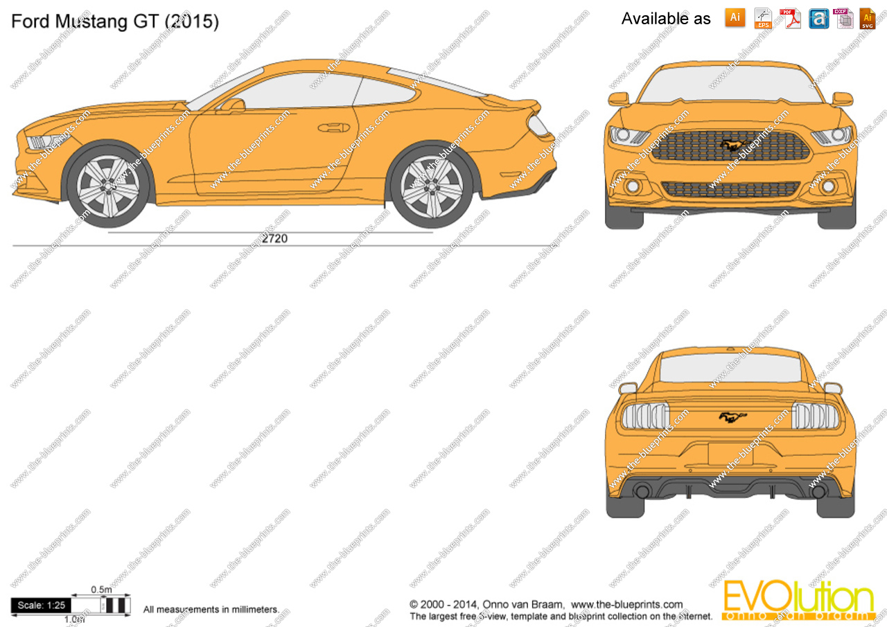 2015 ford mustang gt drawings