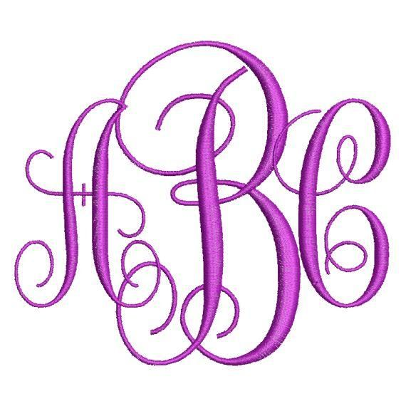 3 Letter Monogram Fonts Machine Embroidery