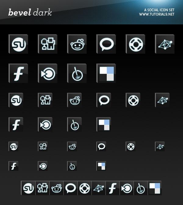 16 Black 3D Icon Sets Images