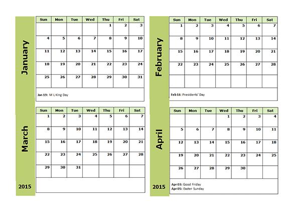 Excel 3 Month Calendar Roho4senses