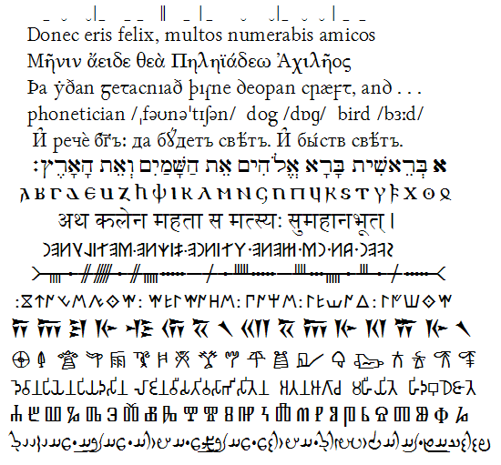 Ancient Latin Alphabet Font