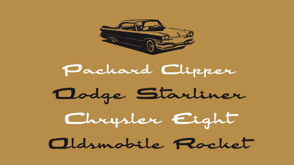Automotive Script Fonts