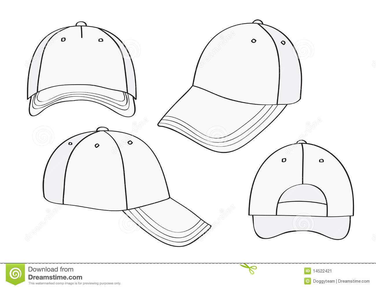 18 blank baseball cap template images baseball cap blank template baseball hat design. Black Bedroom Furniture Sets. Home Design Ideas