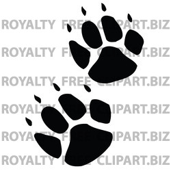 Black and White Free Clip Art Footprints
