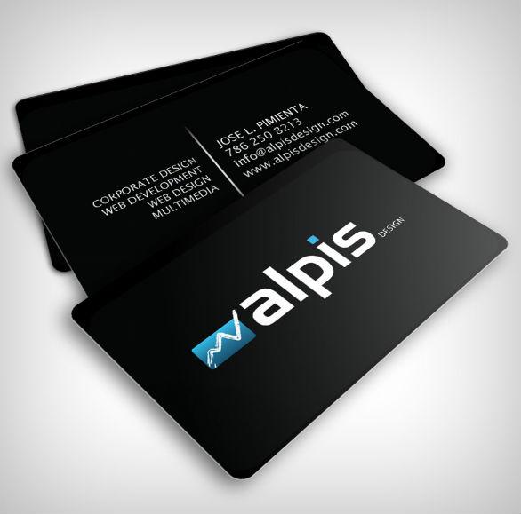 Black Business Cards Design