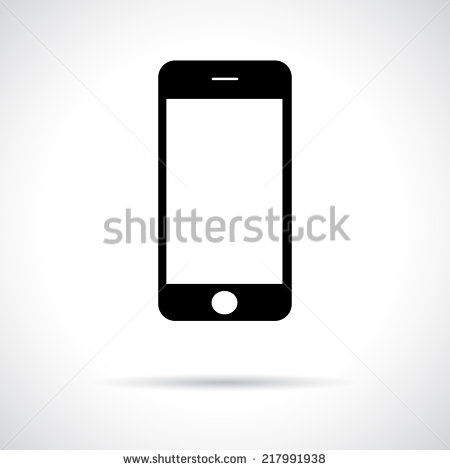 Black Phone Icon Vector