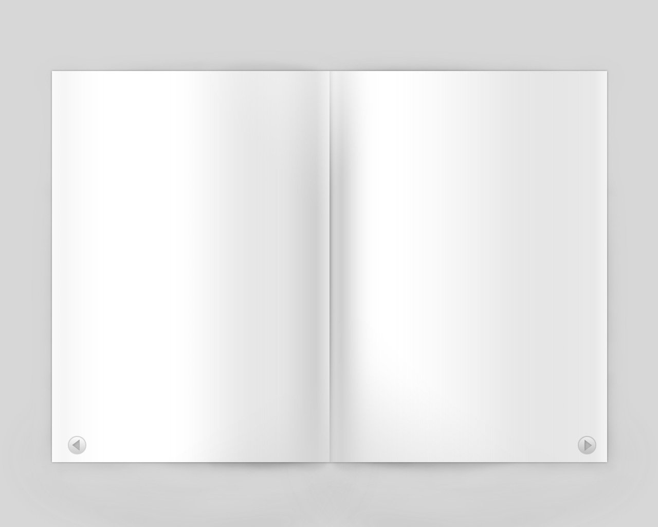 Blank Magazine Page Template