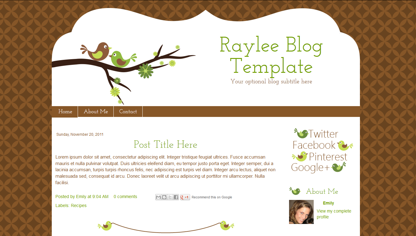 16 Design Blogger Templates Images