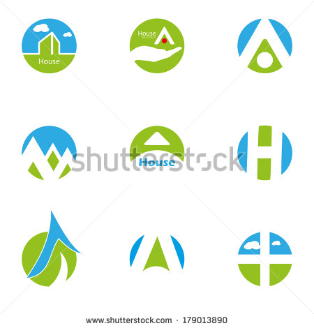 Blues and Green in Logo Design