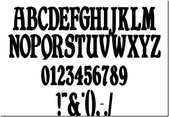 Bold Vintage Font Styles Alphabet