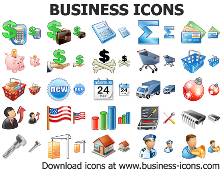 Business Icons for Windows 7