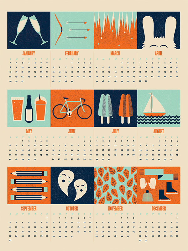 17 Graphic Design Calendar Images