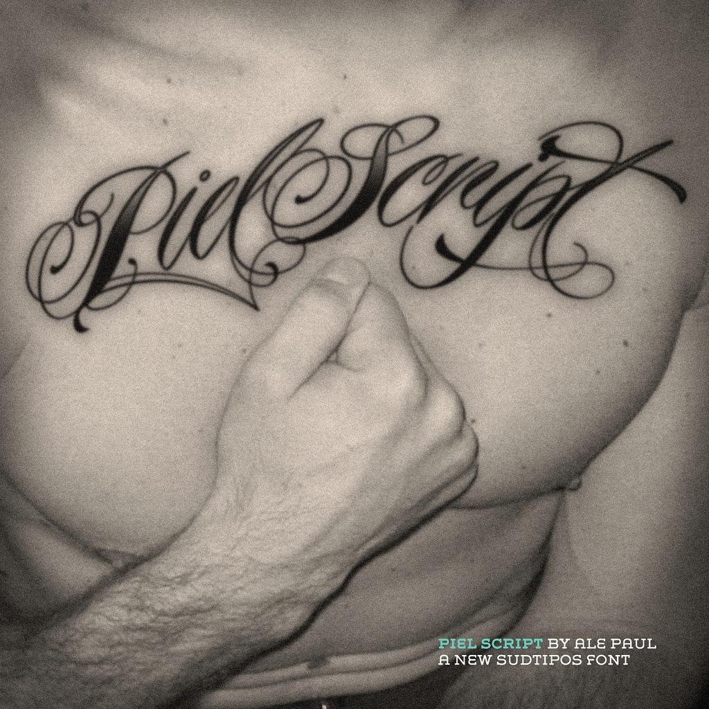 California Script Tattoo Font