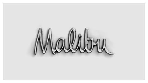 Chevy Malibu Emblem Script