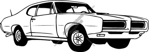 Classic Muscle Car Clip Art