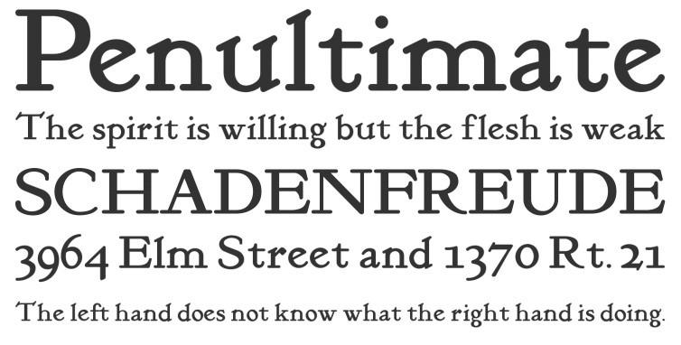 Classic Roman Font