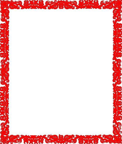 Clip Art Red Borders Designs