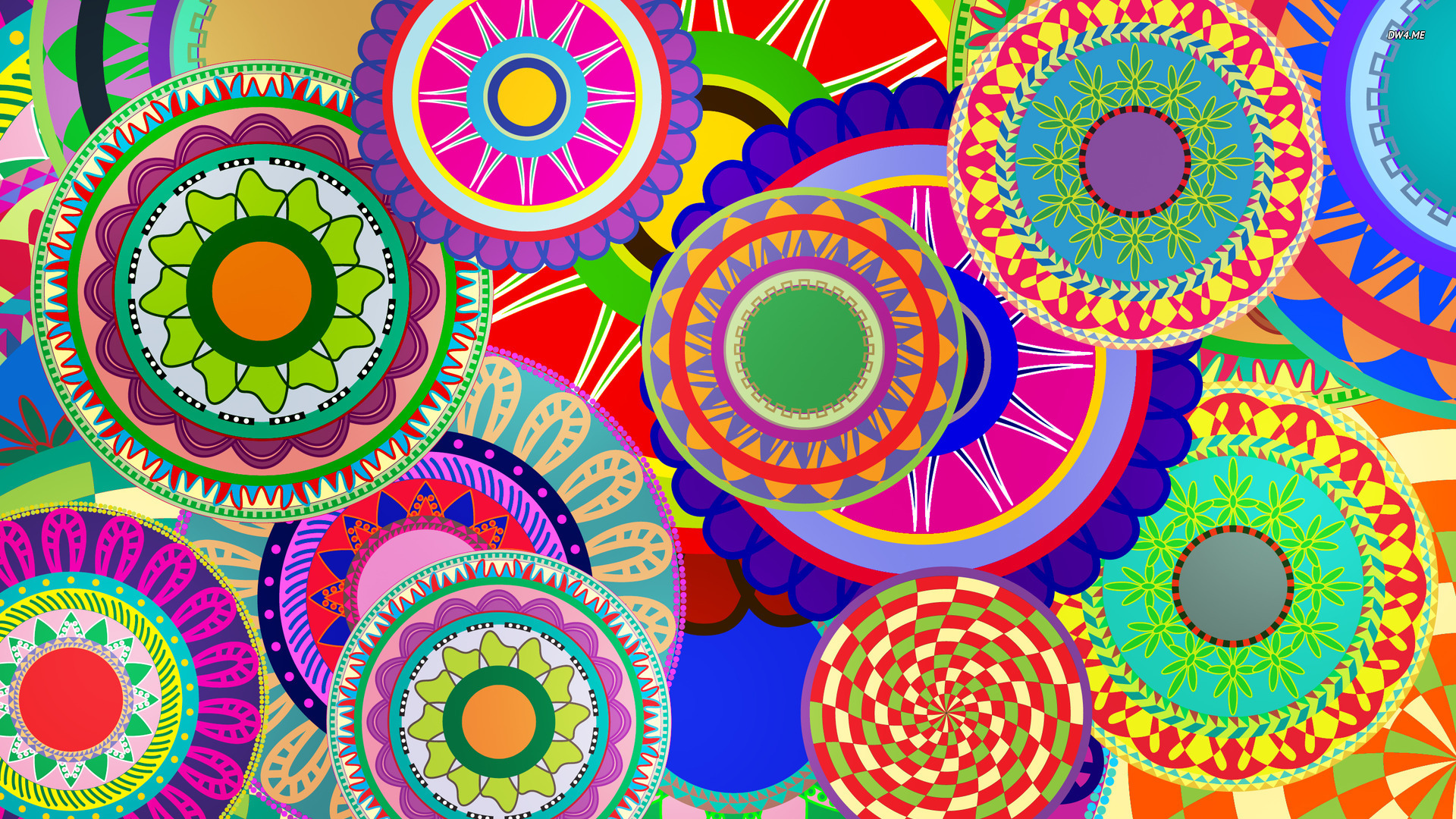 16 Colorful Flowers Vector Designs Wallpaper Images