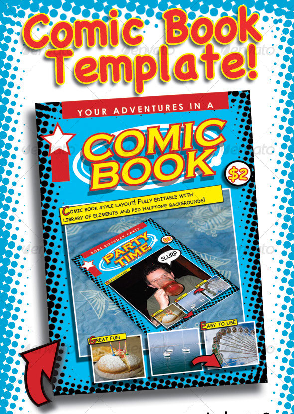 Comic Book Cover Page Template from www.newdesignfile.com