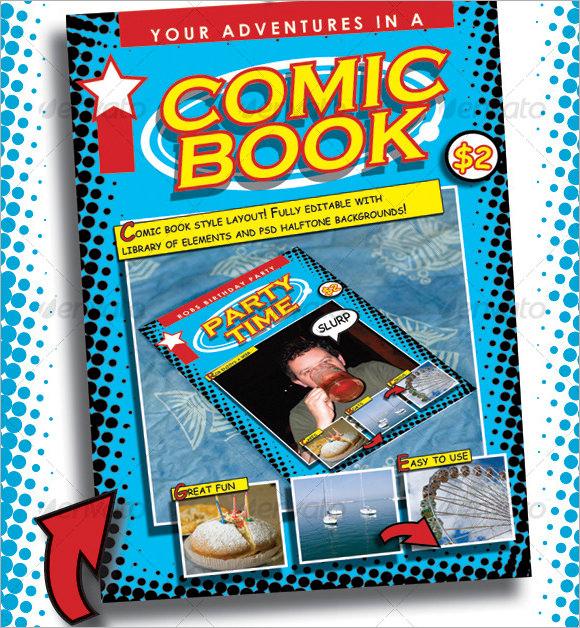 Comic Book Template PSD