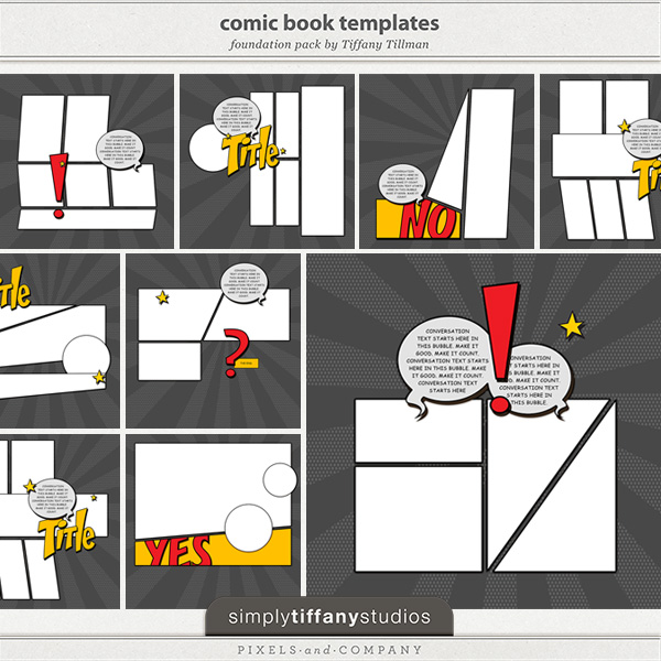 Comic Book Cover Template Psd : Comic book psd template images cover