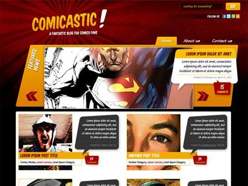 Comic Book Website Template