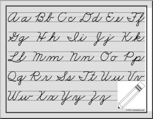 Chart cursive handwriting pdf
