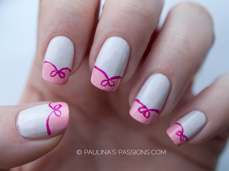 8 Cute Nail Designs With Bows Images
