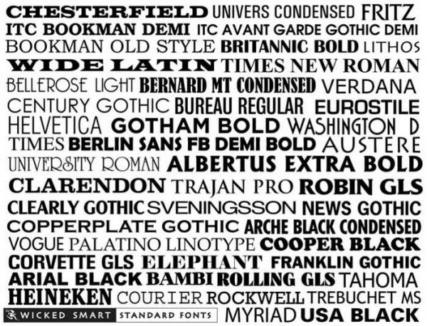 Different Font Examples