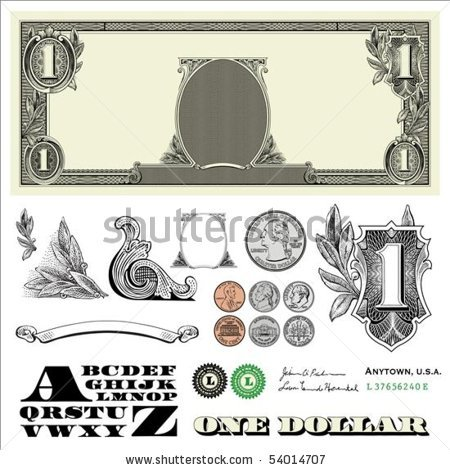 16 Free Vector Dollar Bill Images