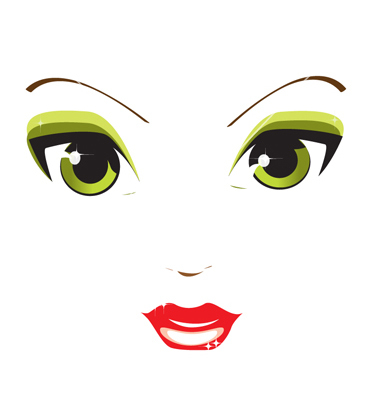 10 Girl Eyes Vector Art Images