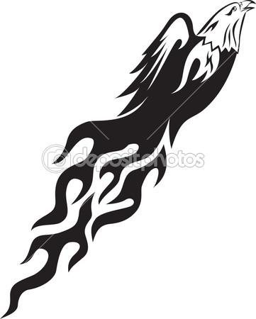 Flame Silhouette Clip Art