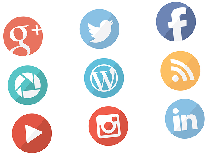 Flat Social Icons Download