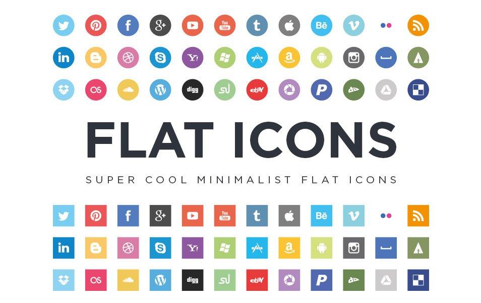 Flat Social Media Icons Free