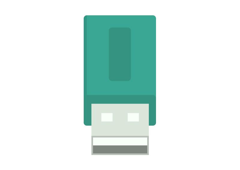 Flat USB Flash Drive