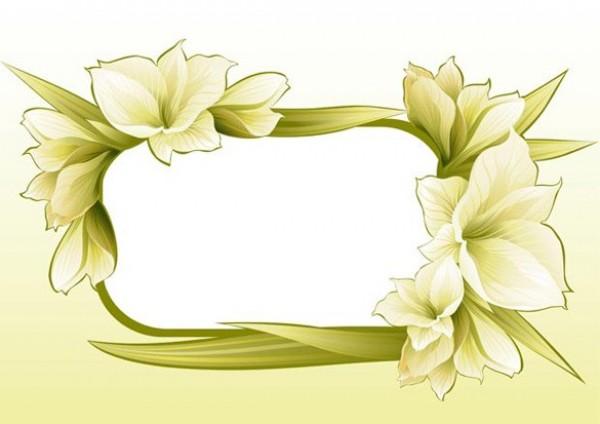 Frame Flower Vector